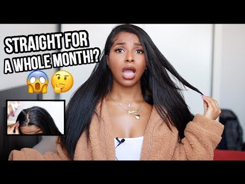 HOW TO KEEP MY NATURAL HAIR STRAIGHT FOR 1 MONTH!