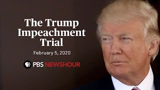 WATCH LIVE: The final day of Trump's impeachment trial -- Feb. 5 on FREECABLE TV