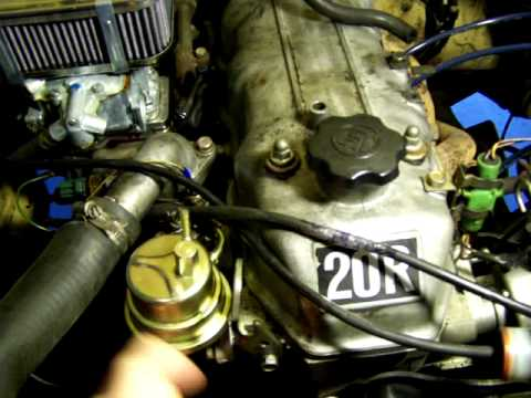 toyota 20r fuel pump part 1 - YouTube