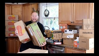 Baixar I bought 400 Pounds of Grocery Amazon Customer Returns & Watch the MASSIVE Pallet Unboxing