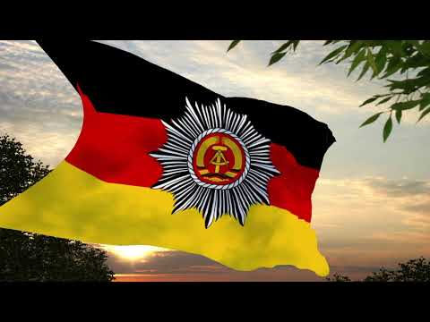 Volkspolizei Lied + Bandera del Policía Popular de la República Democrática Alemana