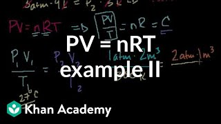 Ideal gas equation example 2 | Chemistry | Khan Academy