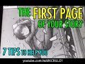 The FIRST PAGE of Your Story: 7 Tips to Help You