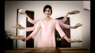 Woman with six hands!!! Watch the popular MTR TVC.