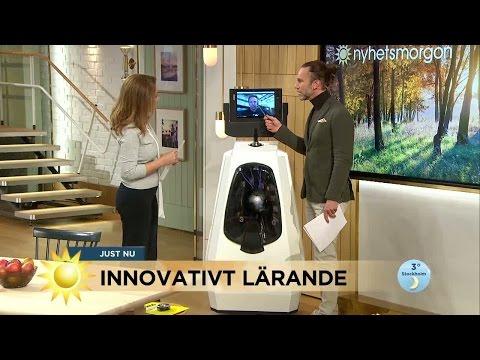 Lärare i Kina undervisar svenska elever via robot - Nyhetsmorgon TV4