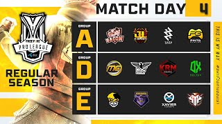 Free Fire Pro League Season 4 : Regular Season Day 4