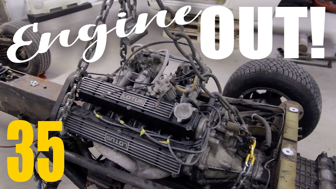 Removing a Lotus Esprit engine and trans // SOUP Classic Motoring E.35