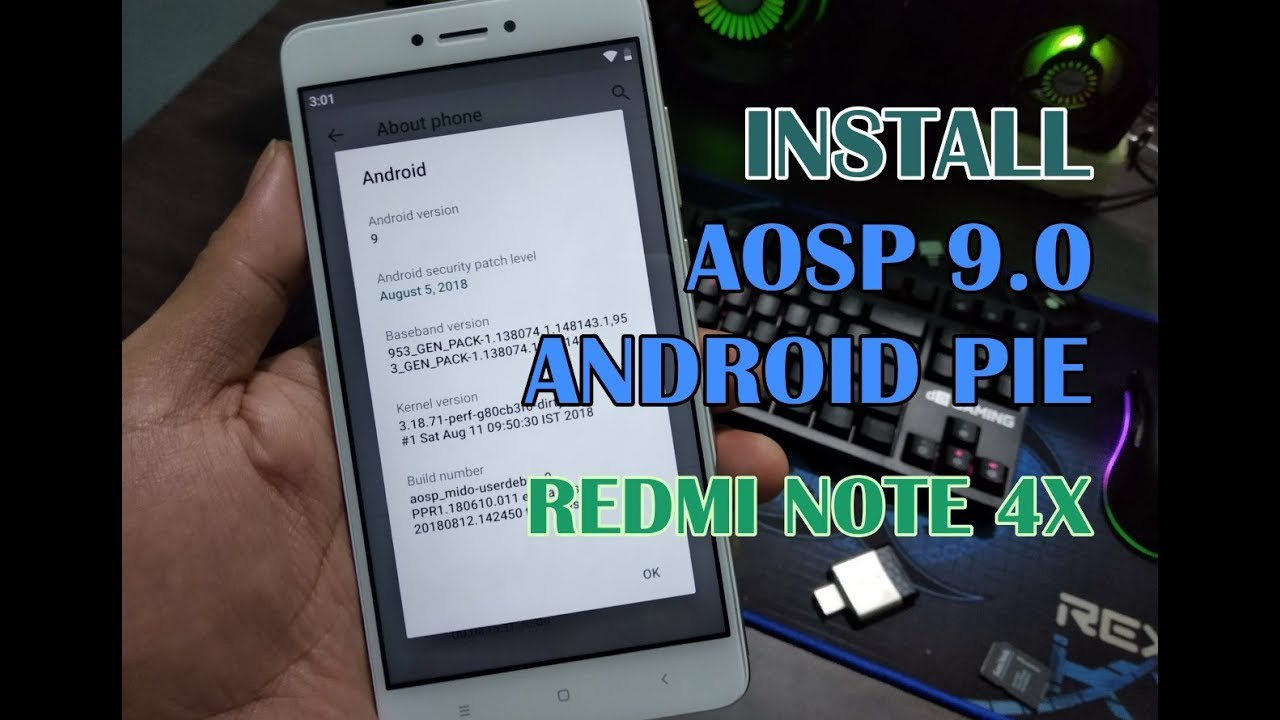 Install Custom ROM AOSP 9 0 Android Pie Redmi Note 4 Snapdragon (Redmi Note  4x)