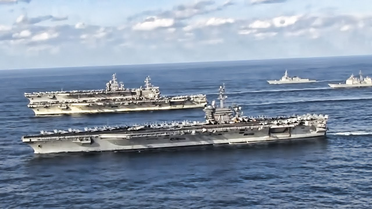 Three U.S. Aircraft Carriers Join Forces Near North Korea