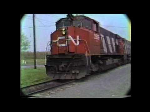 CN & CP Trains in Quebec , 1980's / Volume 5