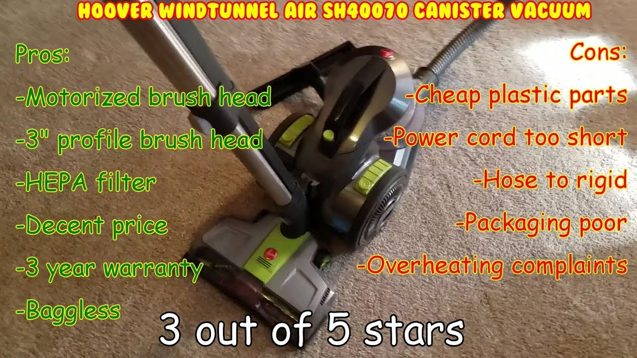 Hoover WindTunnel Air SH40070 Unbox, Assemble, test, Review  bagless