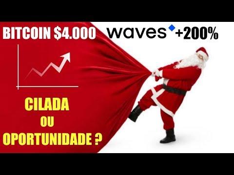 Bitcoin $4000 e Waves subindo 200%! Cilada ou Oportunidade?