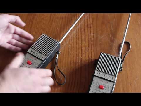 Vintage Morse Code Transceiver Mascot