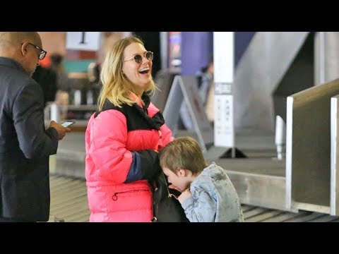 January Jones Arrives Home With Energetic Son Xander After Skipping Oscars For Trip To Canada