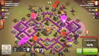 Clash of Clans - Ballon Drachen Taktik RH8 vs. RH7