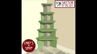 Chief's Shop Sketch Of The Day: Built-in Corner Shelves
