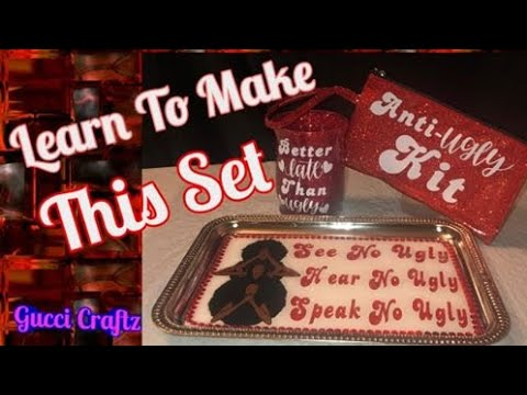 Custom Beauty Tray Set/ Rolling tray/ DIY/