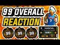 99 OVERALL LIVE REACTION - BEST 99 OVERALL BECOMES IMMORTALIZED IN NBA 2K20