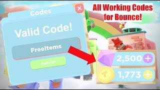 ALL WORKING CODES FOR BOUNCE! || Roblox Bounce!
