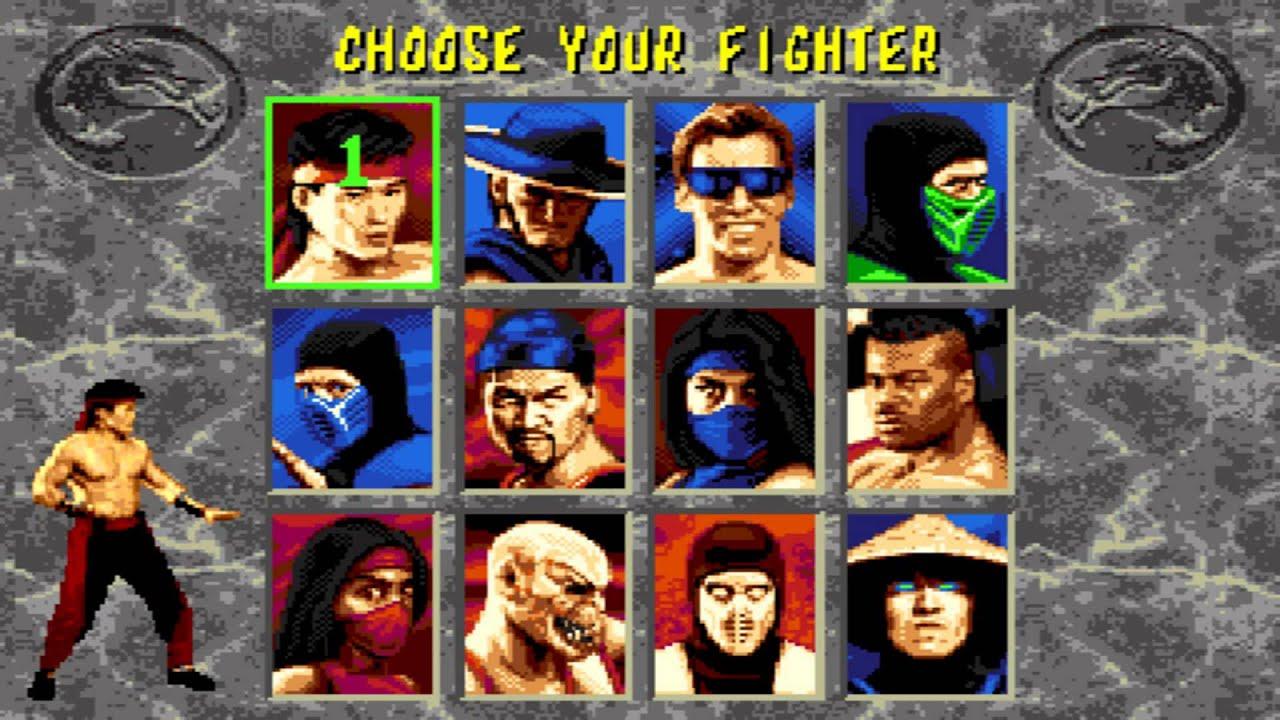 Mortal Kombat 2 Character Select
