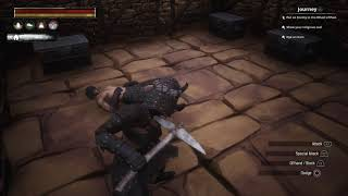 Conan Exiles Lying Down T Bag - funny glitch moment