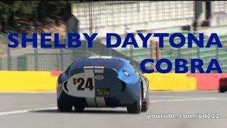 SHELBY DAYTONA COBRA COUPE at Spa-Francorchamps - Startup, fly bys, slides etc