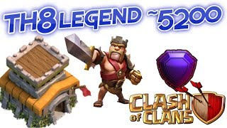 II Clash of Clans || Th8 Legend At 5200+😱 II