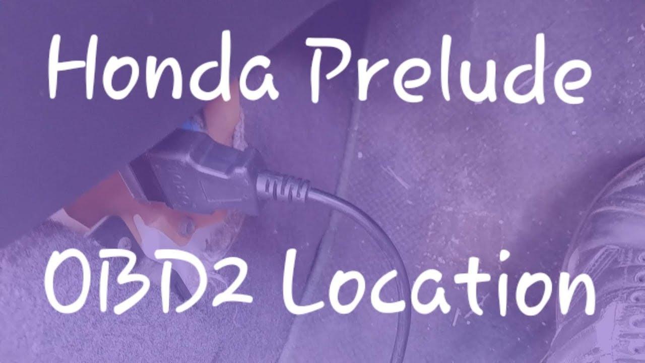 OBD2 Port Location on a fifth generation (1997-2001) Honda Prelude