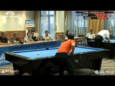 Billard Bundesliga, Mund vs Dincer 9-Ball