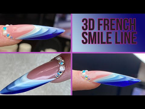 3D French Smile Line - Step-by-Step Of The Latest Nail Trend!