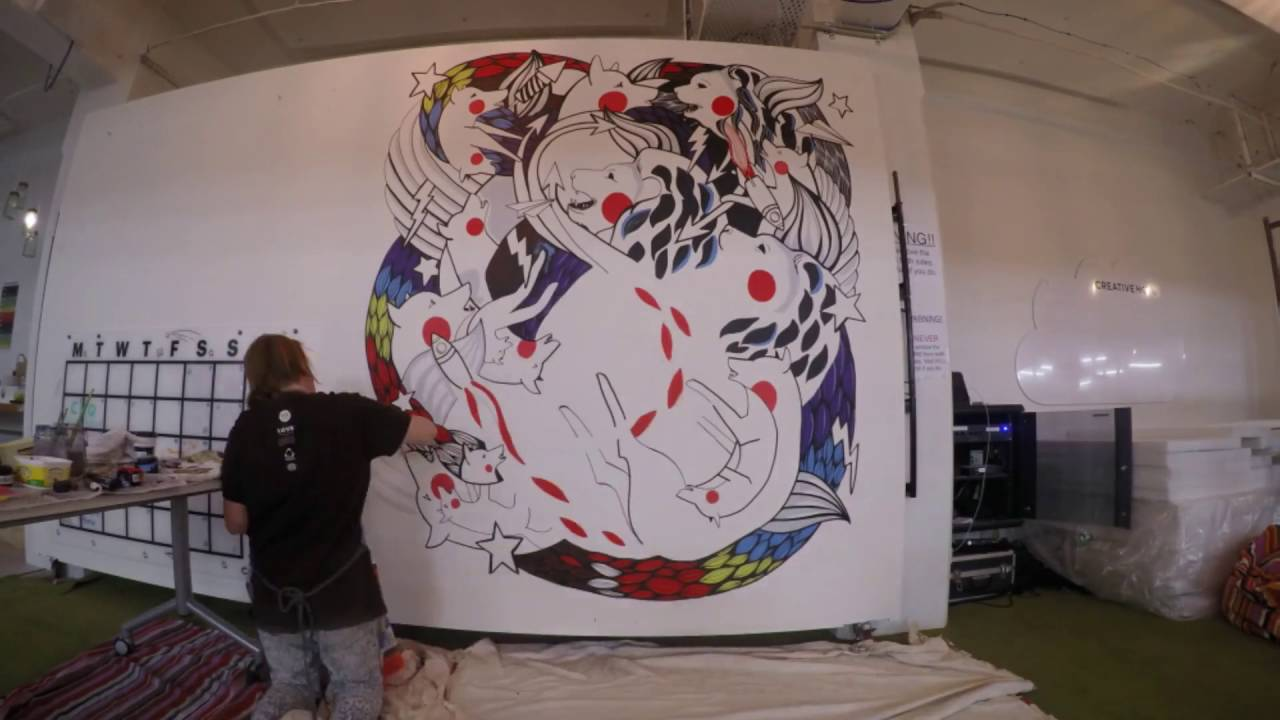 Moving Wall Art moving wall mural hd - youtube