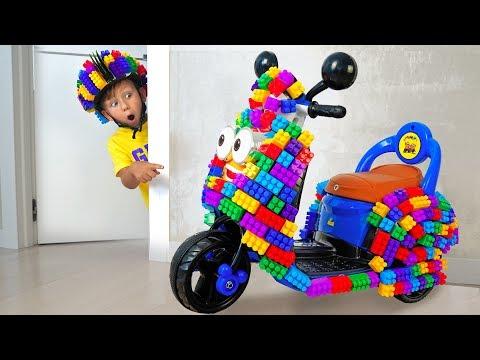 видео: Сеня играл с Цветными Блоками и Построил Крутой мини Байк