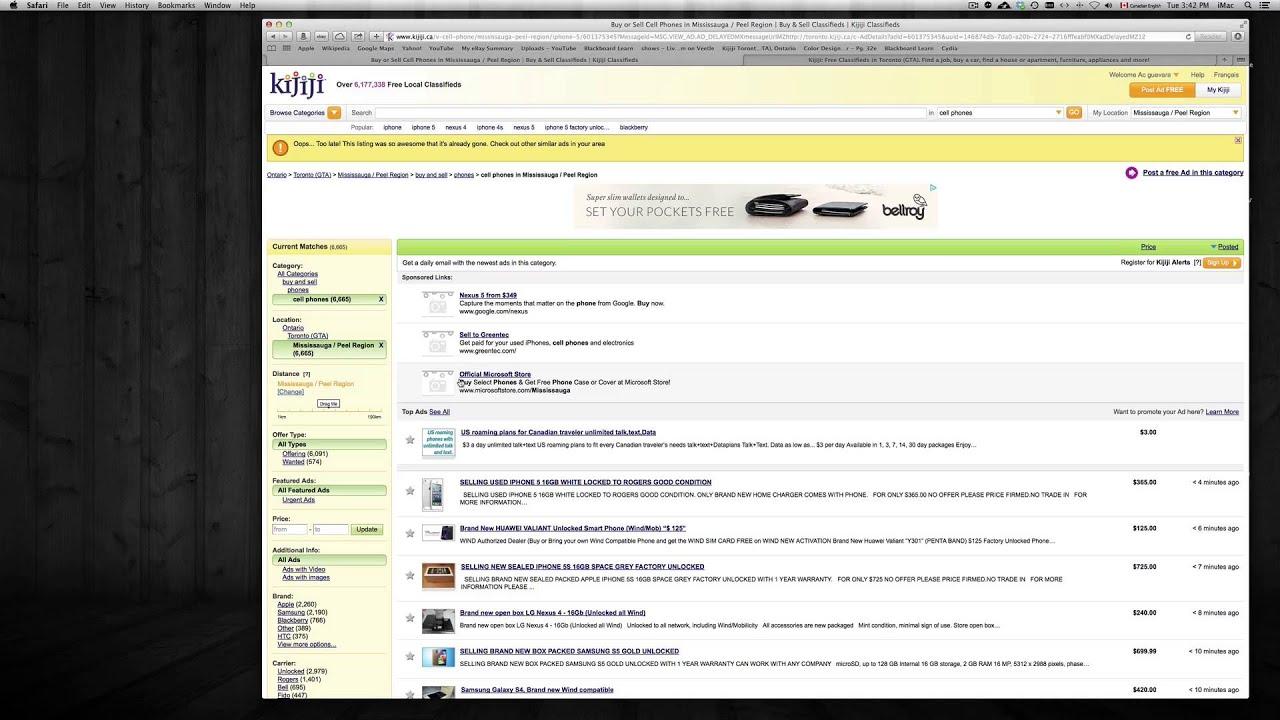 Kijiji Furniture Kitchener How To Buy And Sell Over Kijiji Youtube