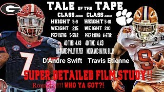 EPIC FACE OFF:  D'Andre Swift vs Travis Etienne!!! Rd  2