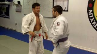 Third Law Brazilian Jiu Jitsu-Judo Throw:Tai Otoshi Variation