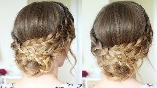 Romantic Braided Updo | Braided Hairstyles | Braidsandstyles12