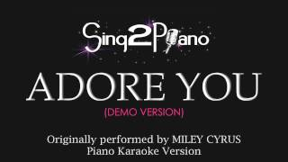 Adore You (Piano Karaoke Version) Miley Cyrus