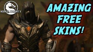 Mortal Kombat X - AMAZING SKINS FOR FREE! (Tutorial) Scorpion, Kitana, Jax and Johnny Skins!