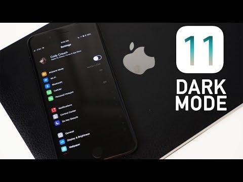 iOS 11 DARK MODE