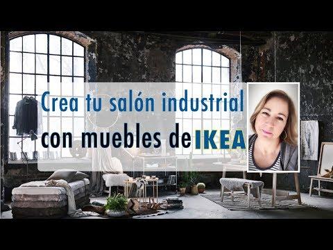Crea tu sal n estilo industrial con muebles de ikea decoraci n de interiores youtube - Decoracion de interiores ikea ...