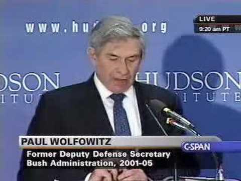 Wolfowitz On Iraq War, Doug Feith At Hudson Institute
