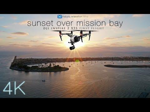 DJI INSPIRE2 X5S: Sunset Over Mission Bay, San Diego [4K UHD 30fps Low-Light 4K Footage]
