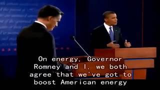 تعلم الانجليزية   مناضرة اوباما ورومني مترجمة انجليزي الجزء الاول