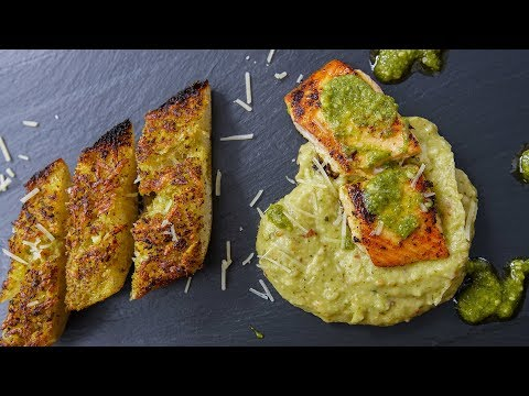 Pesto Garlic Bread and Pesto Salmon Recipes | SAM THE COOKING GUY