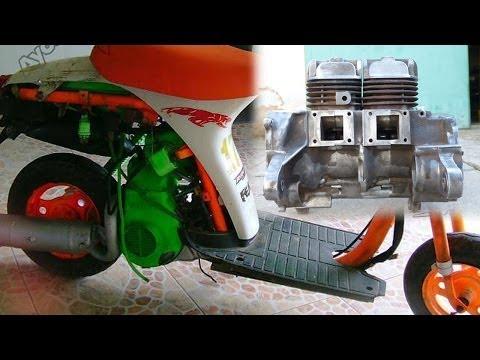 Два цилиндра на Suzuki Ran -