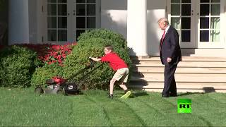 طفل عمره 11 عاما يعمل في البيت الأبيض برعاية ترامب