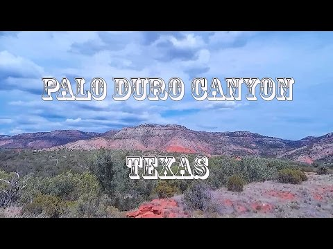 Driving Texas Panhandle Palo Duro Canyon