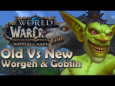NEW Goblin/Worgen Model Comparison - Patch 8.2.5 | Battle for Azeroth