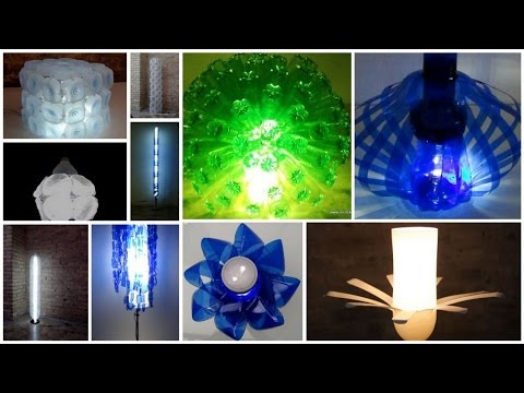 Diy.más de 20 lámparas creativas con material reciclado     20 ...
