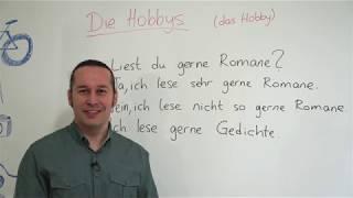 Almanca Temel A1/A2 Ders - 39 Almanca Hobiler - Die Hobbys - Treffen ve Fahren Filleri